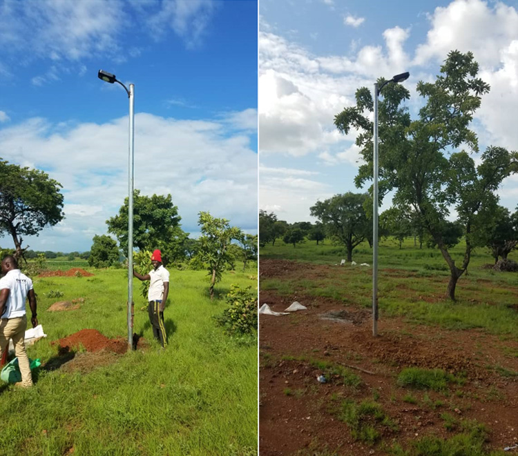 8w Solar Street Light Project in Ghana