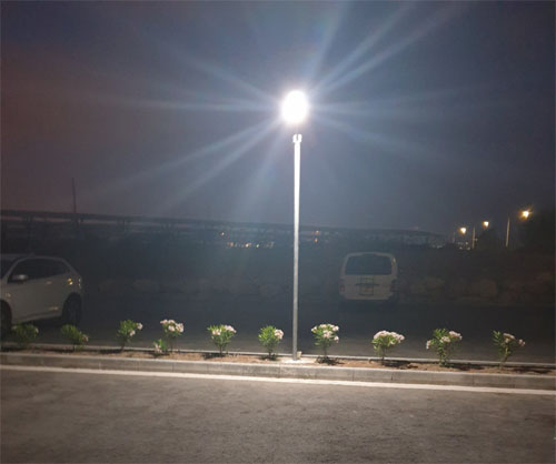Goldsuno Innovative 8W Solar Street Light Sucessfully Installed in Cyprus