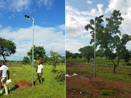 20w Solar Street Light Project in Ghana