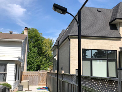 8W All-In-One Solar Street Lights Project in Canada