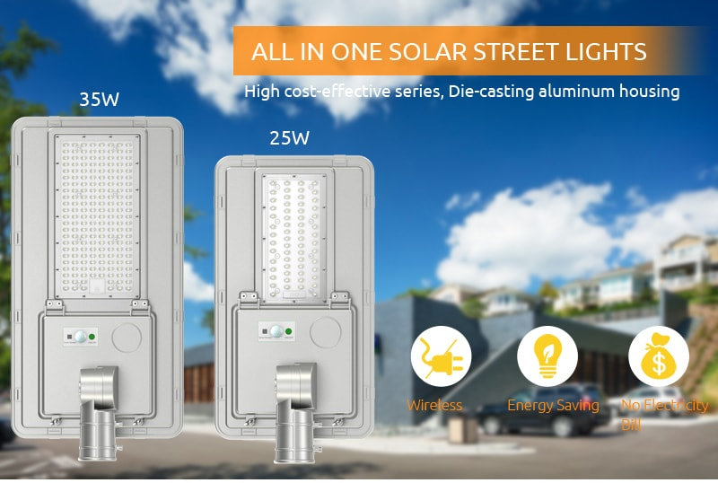 Saturn series solar street lights