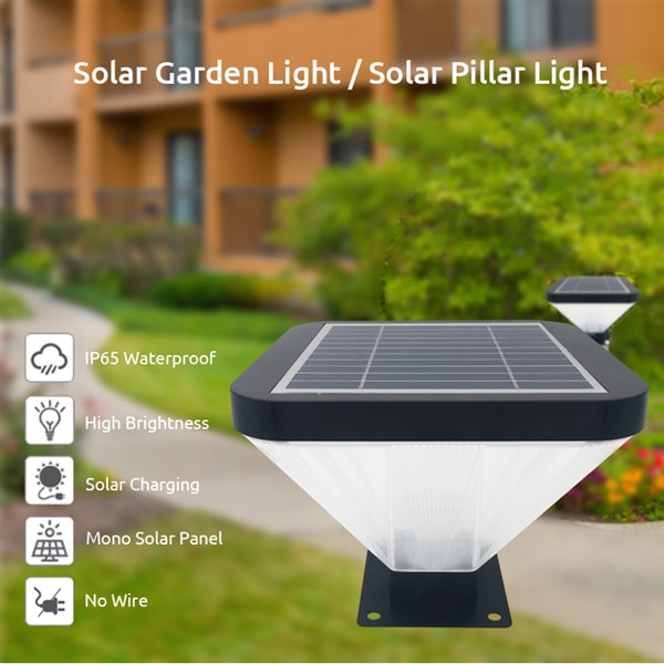 5W Solar pillar Light