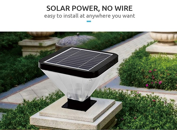solar power pillar light