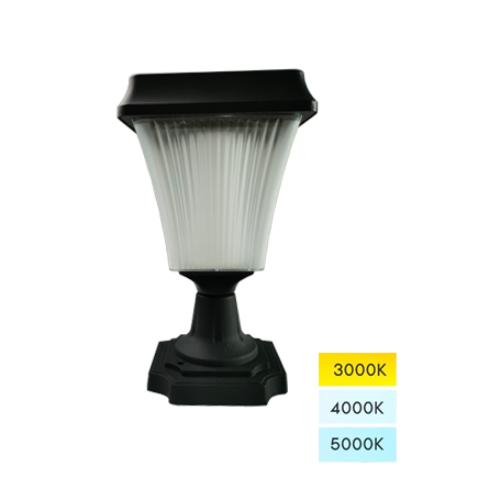 Fane Series Solar Pillar Lights Outdoor Cast Aluminum LED Lamp Fixture for Yard Garden Post Pole Pillar Mount Landscape Driveway