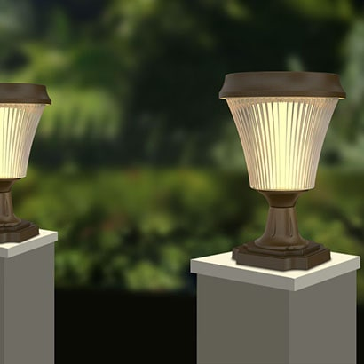 Dove Series Solar Fence Post Lights
