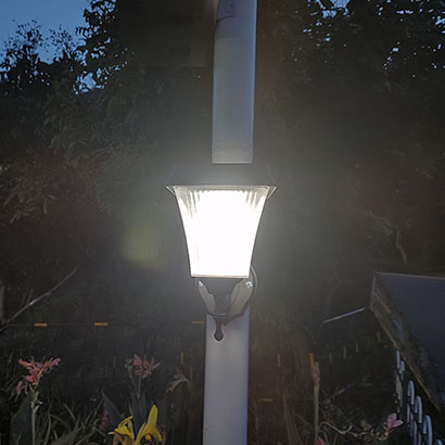 Fane series solar wall sconce security lights