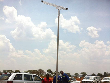 All-In-One Solar Street Lights Project In Algeria