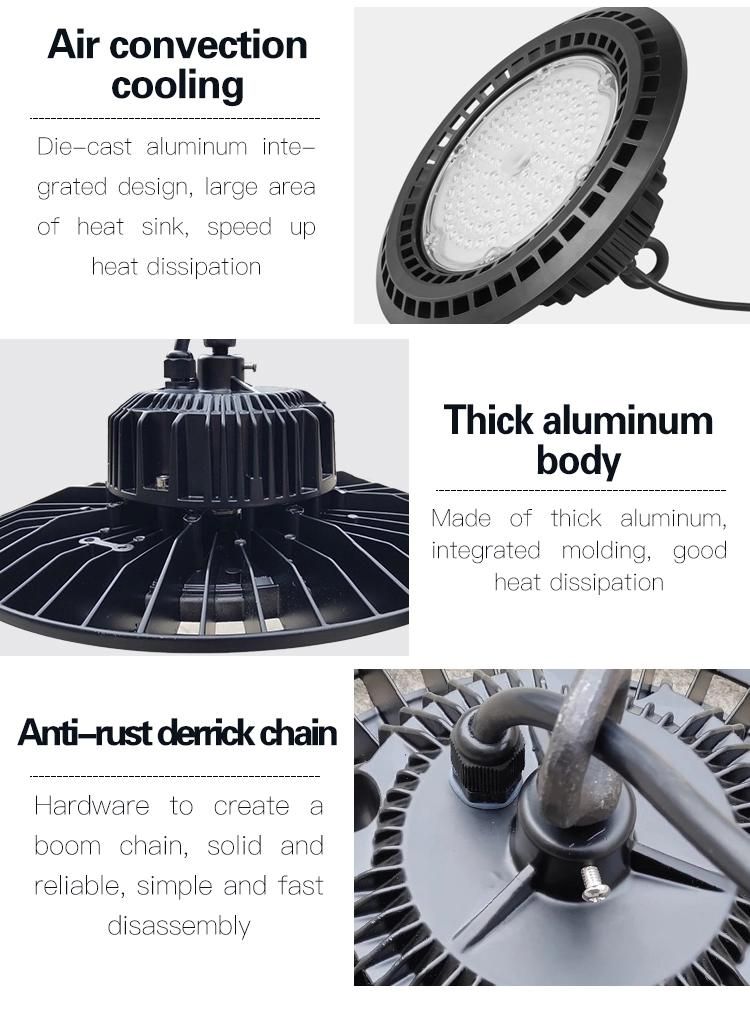 200W Anti-Glare Industrial High Bay Lights Description