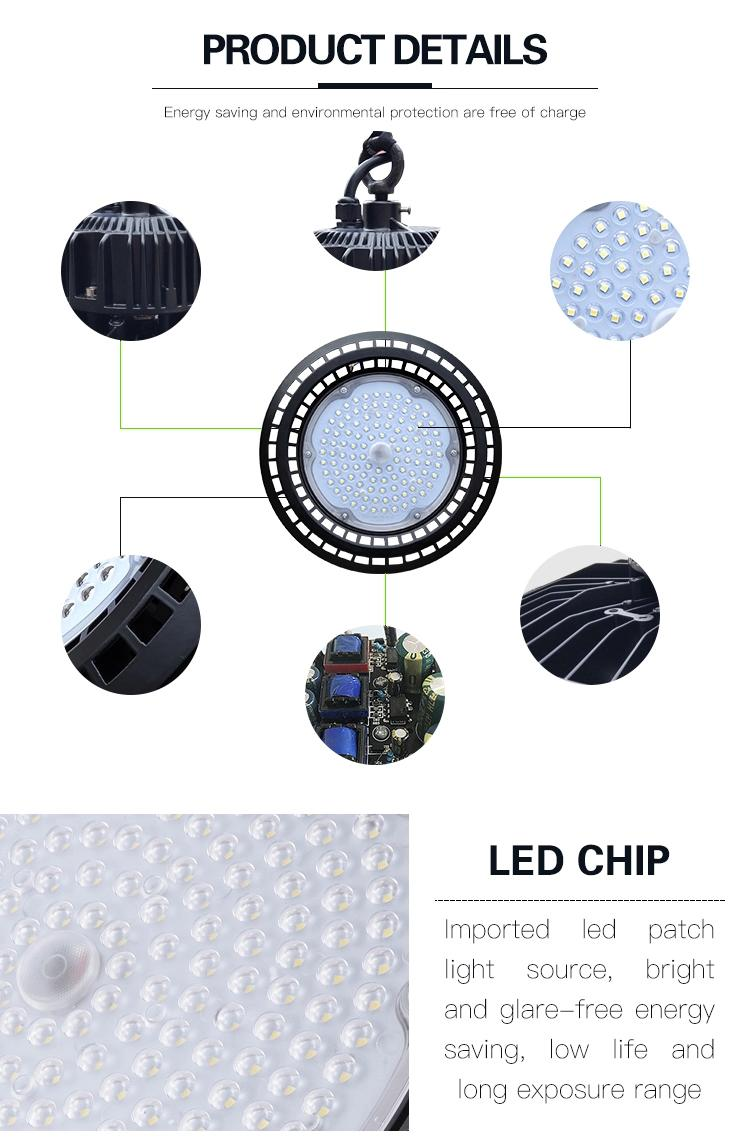 200W Anti-Glare Industrial High Bay Lights product detail