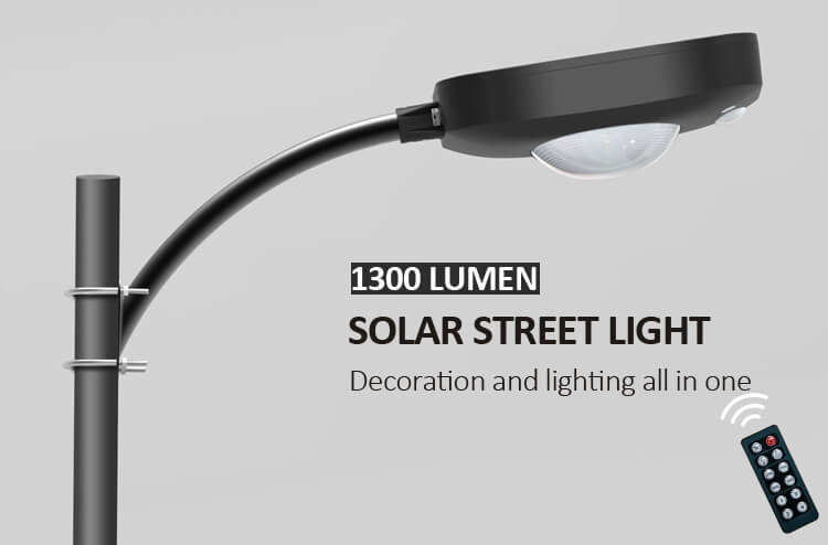 1300 lumen solar yard light decoration and lighting all in one
