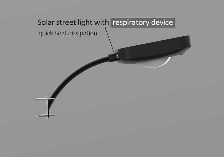solar yard light with respiratory device