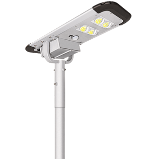 40W Solar Powered Street Light, 40W Dusk to Dawn LED Solar Street Light With Lithium Battery For Yard, Garage, Patio