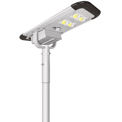 40W Dusk to Dawn LED Solar Street Light With Lithium Battery For Yard, Garage, Patio