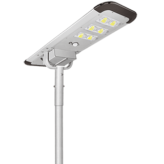 60W All In One Solar Street Light, 6500 Lumens Integrated Solar Panel Street Lights Dusk to Dawn with Motion Sensor