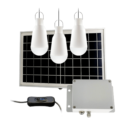 Solar Panel lighting Kit for Home and Camping, Portable Solar Home System Kit with 3 LED Bulbs and Large Capacity Lithium Battery